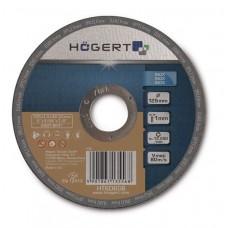 Диск корундовый HOGERT для резки нержавеющей стали 125 мм толщина 1,0 мм