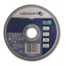 Диск обрезной HOGERT по металлу 115 мм толщина 1,0 мм