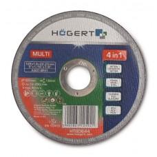 Диск обрезной HOGERT универсальный по металлу по бетону по керамике 125 мм PCV (А)