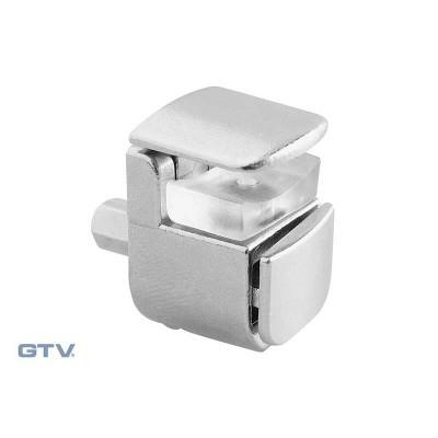 Полкодержатель для стеклянных полок E410 хром - PP-GL-E410-01