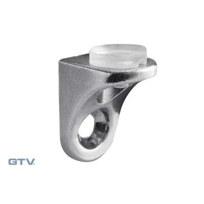 Полкодержатель для стеклянных полок крепления на шуруп, с резинкой хром CGP - PP-GL-CGP-01