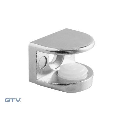 Полкодержатель с зажимом для стеклянных полок A48 хром - PP-GL-A48-01
