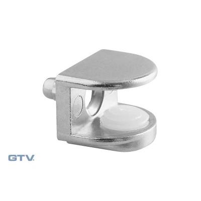 Полкодержатель для стеклянных полок крепления вставной, стекло 4-8мм - PP-GL-B48-01