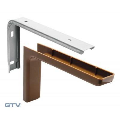 Консоль металлическая (180 мм) темно-коричневая - WB-WS-18-031
