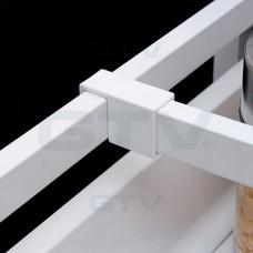 рейлинг продольной квадратный L-500 белый