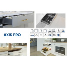 Выдвижная система AXIS PRO l-500 мм средний H116 Белый