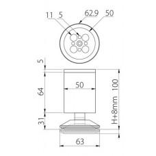 Ножка мебельная BD-762 хром