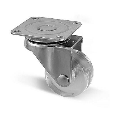 Мебельный ролик d 35 прозрачный - km-a035mm-00