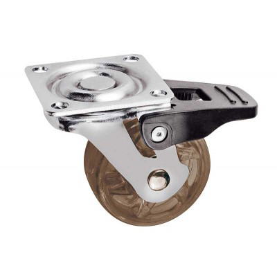 Мебельный ролик SHIFT d50 коричневый с фиксатором - km-bh50mm-30