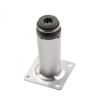 Ножка мебельная D-30 H-100 алюминий - nm-bd-100-05