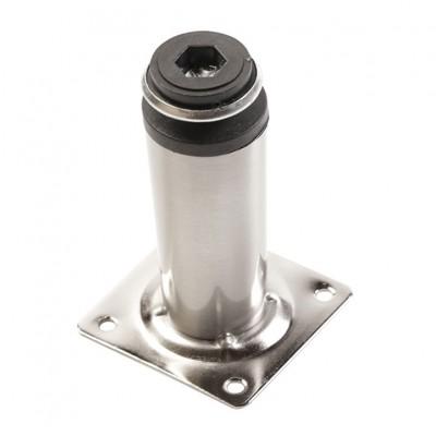 Ножка мебельная D-30 H-100 сатин - nm-bd-100-02