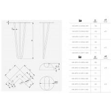 Мебельная опора GTV ARTO 12х406 мм Черная