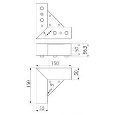 Ножка мебельная MODERN 941хром