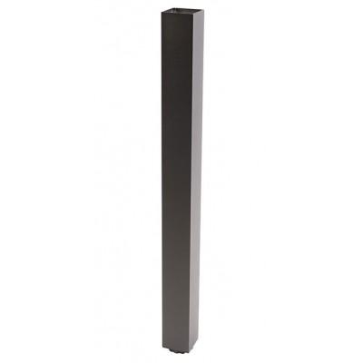 Квадратная мебельная опора GTV с регулировкой 60х60х710 Черная - NM-60R710-20