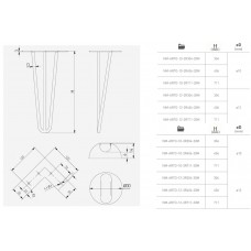 Мебельная опора GTV ARTO 12х711 мм Черная