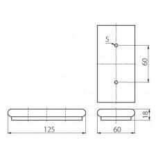 Ножка мебельная XN8273 хром