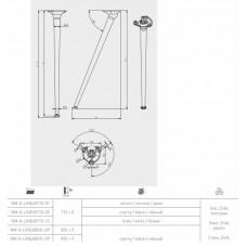 Ножка наклонная NM-X-LINE40710 с регулировкой, хром