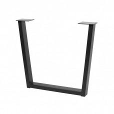 Каркас для стола GTV INDUSTRIA 710 мм x 820 мм трапеция профиль 80 x 20 мм черный