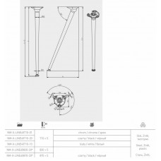 Ножка наклонная NM-X-LINE40710 с регулировкой, черная