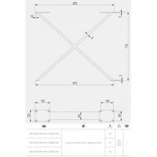 Каркас для стола GTV INDUSTRIA 710 mm x 820 мм перекрестный профиль 80 x 20 мм черный