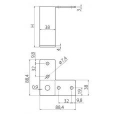 Ножка мебельная B-104 H-100 хром