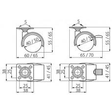 Мебельный ролик d 40 с фиксатором