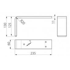 Ножка мебельная MODERN D4 хром