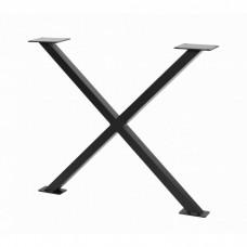 Каркас для стола GTV INDUSTRIA 710 mm x 820 мм перекрестный профиль 80 x 40 мм черный