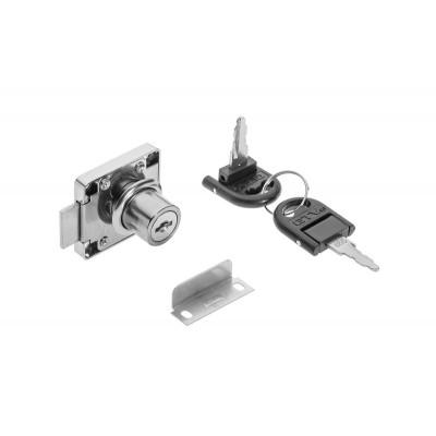 Замок квадратный хром 138 + ломаный ключ - ZZ-ZN-138-01