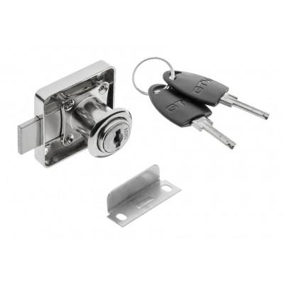 Замок квадратный хром 138 - цифровой ключ - ZZ-CF-138-01