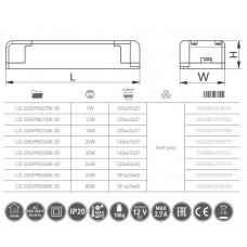 Трансформатор GTV LED PRO 12V 80W для светодиодного светильника