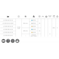 Лента светодиодная  Flash 3528 300 диодов 24W н / б бухта 5м