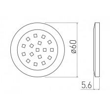 Светильник LED Lumino 12V DC, 1.5W, 16 SMD3528, 200см провод с miniAMP х / б, алюминий