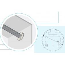 Алюминиевый профиль-штанга GLAX, 2 метра, (цена за 2 метра)