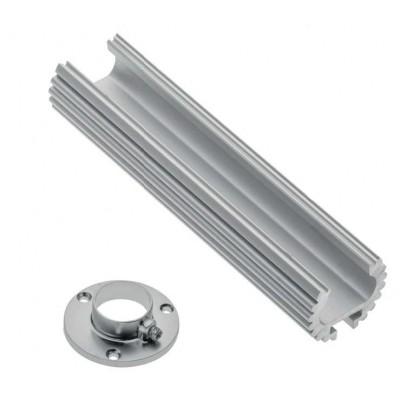Алюминиевый профиль-штанга GLAX, 2 метра, (цена за 2 метра) - PA-GLAXDR-AL