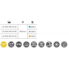 Лента светодиодная Flash 3528, 60 диодов на 1 м, 24W, нейтральный белый, без силиокна, 8мм, бухта 50м
