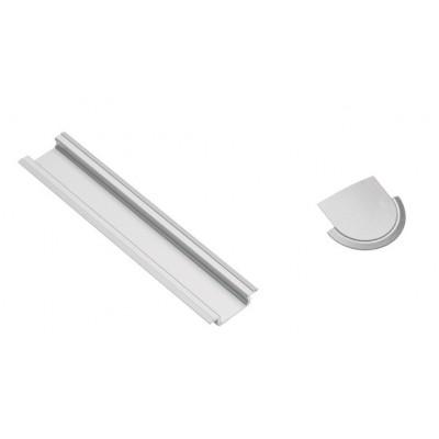 Заглушка конечная профилю GLAX, для светодиодной ленты врезная - PA-ZASGLAX-00