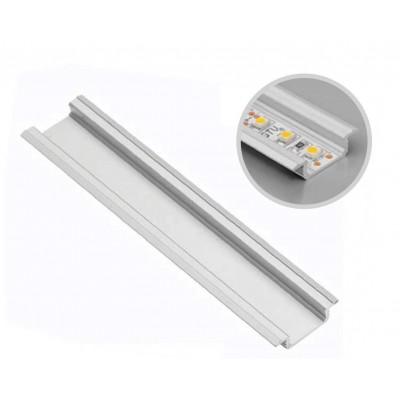 Алюминиевый профиль GLAX врезной, 3 метра, (цена за 3 метра) - PA-GLAX3M-AL