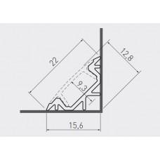 Алюминиевый профиль GLAX угловой, 3 метра (цена за 3 метра)