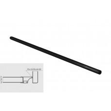 Уплотнитель для профиля GLAX для торца полок черный (Рулон 10м)