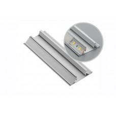 Алюминиевый профиль LED угловой-торцевой, двусторонний GLAX серый L = 3007 mm