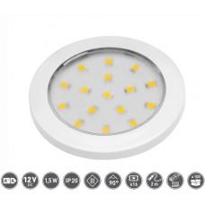 Светильник LED Lumino 12V DC, 1.5W, 16 SMD3528, 200см провод с miniAMP т / б, белый