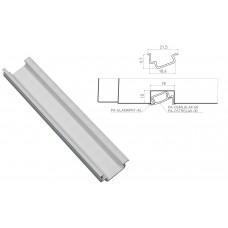 Алюминиевый профиль GLAX врезной угловой 2 метра, цена за 2 метра