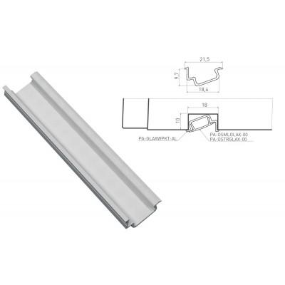 Алюминиевый профиль GLAX врезной угловой 2 метра, цена за 2 метра - PA-GLAXWPKT-AL