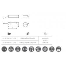 Сенсорный выключатель GTV CCT беспроводной 12V 60W Белый