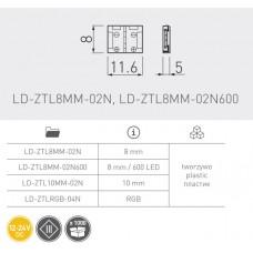 Соединение XC11 для светодиодной ленты 8 мм прямое