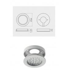 Светильник LED Врезной / накладной Vasco, 12V DC, 24 SMD3528, 200см провод с miniAMP т / б, серый