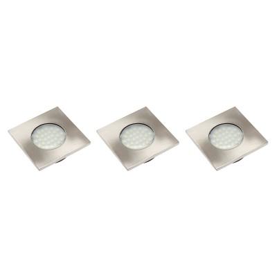 Набор 3 квадратных светодиодных светильников MARBELLA PLUS б / х - LD-KWP27ZB-53