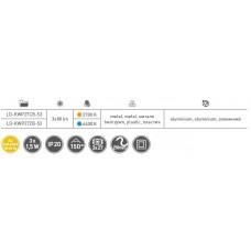 Набор 3 квадратных светодиодных светильников MARBELLA PLUS б / х