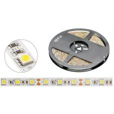 Лента светодиодная Flash 5050, 60 диодов на 1 м, холодный белый, 72W, без силикона, 10мм, бухта 5м